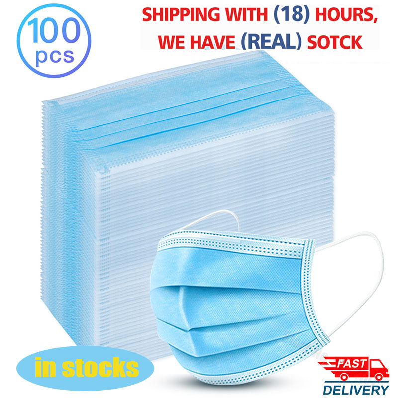 100Pcs Disposable Medical Masks Children Kids 3 Layers Mouth Mask Anti Virus Earloop Waterproof Masks Facial Protective Masks