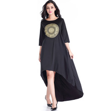 New Women's Beach Dress Embroidered Robes Women's Casual Round Neck Long Dress Bohemian Chic Loose Swallo Wtail Long Dresses цены