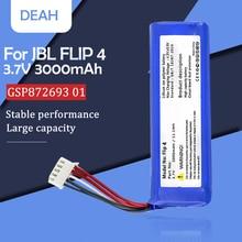 Сменный литий-полимерный аккумулятор GSP872693 01 3,7 в 3000 мАч/Втч для JBL Flip 4 Flip4 Special Edition, беспроводной bluetooth-динамик