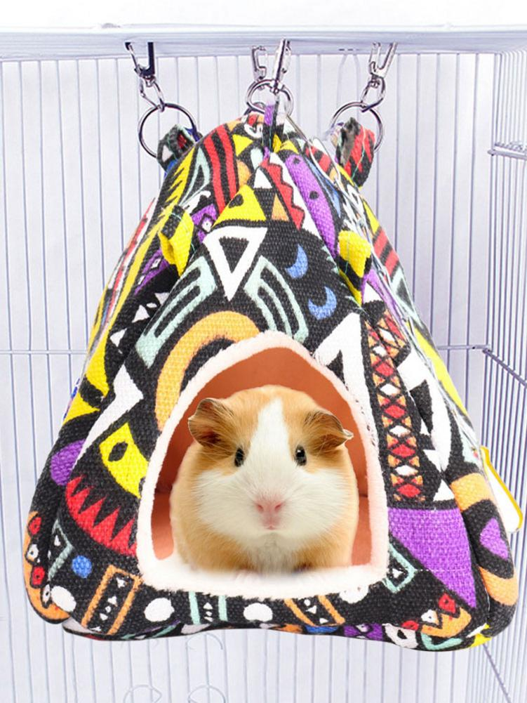 Hamster Tent Bed House Warm Hammock Hanging Sleeping Cage Winter Nest for Guinea-Pig Ferret Small Parrot