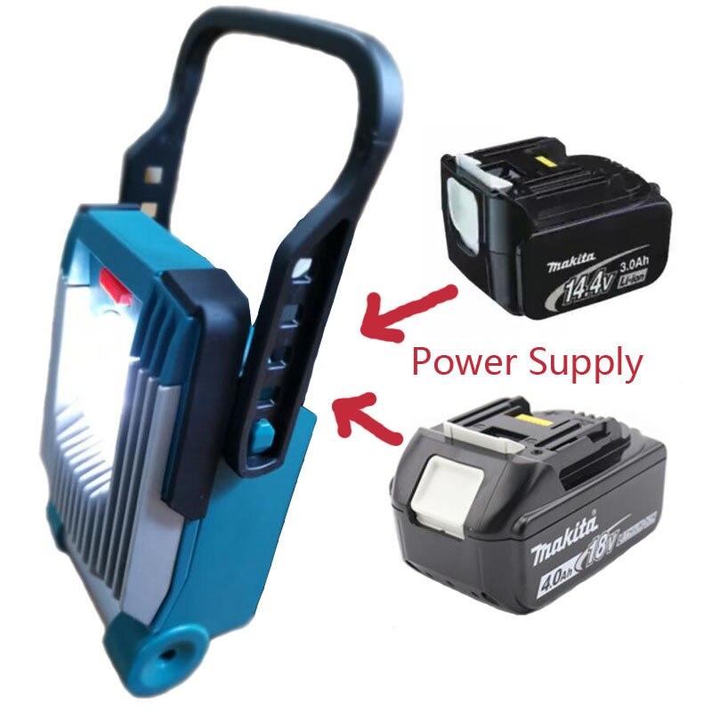 A bateria do li íon conduziu a luz do trabalho aplica se para makita 14.4 v 18 v bl1830 bl1860 bl1430 bl1460 bateria flash luz local tochas|Acessórios para baterias| |  - title=