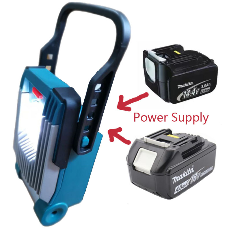 Li-ion Battery LED Work Light Apply For Makita 14.4V 18V Bl1830 Bl1860 Bl1430 Bl1460 Battery Flash Light Site Light Torches