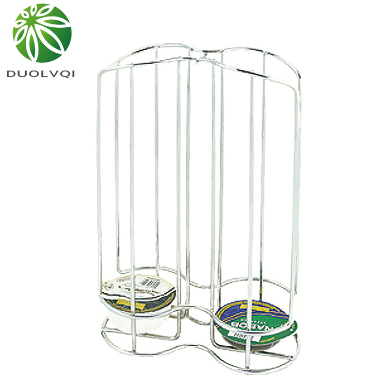 Duolvqi Capsule Coffee Pod Holder Metal Stand Coffee Display Rack Capsules Storage Organizer Tool For 24 PCS Capsules