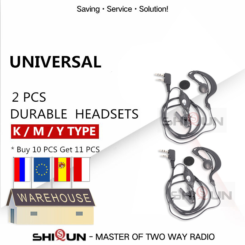 BAOFENG Earpiece Uv-5r-Accessories BF-888S Headset TH-UV8000D Durable for Mic-Finger-Ptt