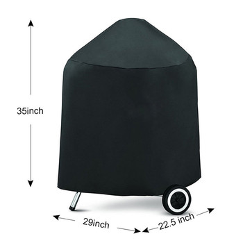 New For Weber 7149 black Barbeque BBQ Grill Cover with Storage Bag 22.5-Inch Charcoal Grills Camping BBQ Accessories Tools Outdo