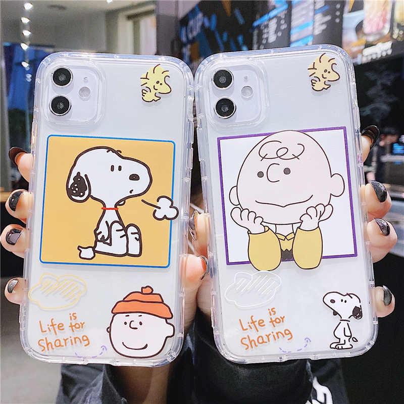 Cartoon Charlie Clear Phone Case Voor Samsung A51 A71 Note 10 8 9 Plus S10 S10E S9 S8 S7 S20 plus A30 A50 A70 A80 A5 A8 Soft Case
