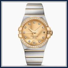 Constellation 38mm relógios mecânicos de negócios masculinos de luxo relógios automáticos à prova dwaterproof água 1:1005