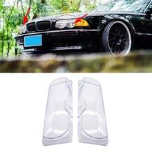 Couvercle Transparent en verre pour phares de voiture, pour phares gauche/droite, pour BMW E38, 728i, 730i