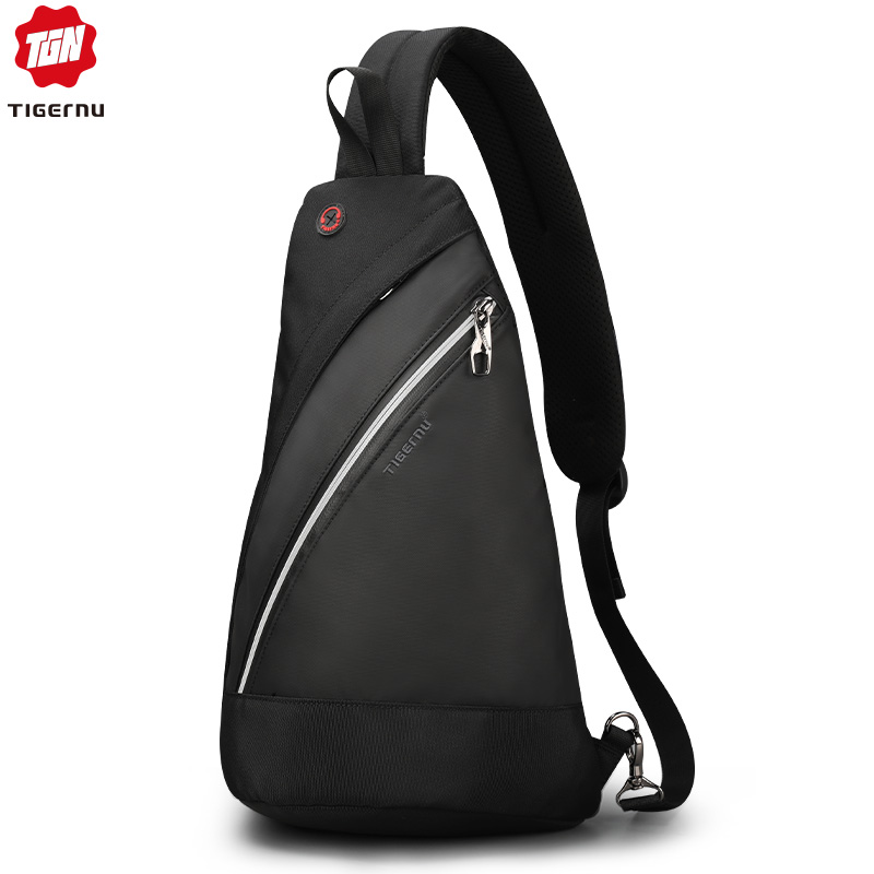 Tigernu 2019 New Casual Men Crossbody Bags Light Fashion High Quality Splashproof Chest Black Messengers For Teens Shoulder Bags