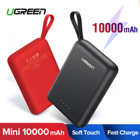 Ugreen Power Bank 10000mAh Portable Charger External Mobile Battery Fast Phone Charger for Xiaomi Samsung S10 Mini Powerbank
