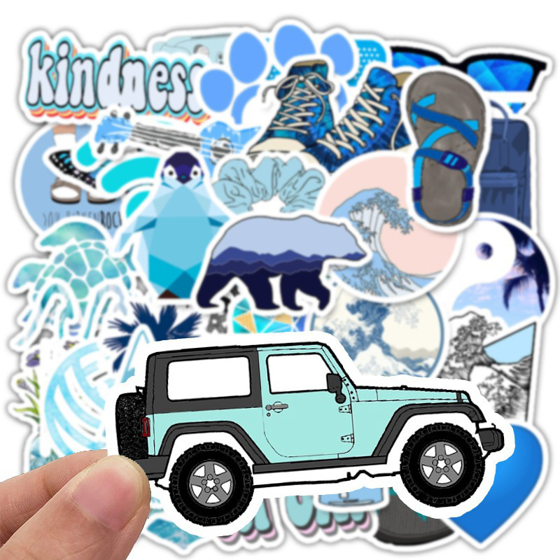50 Pieces/set Anime Surfing VSCO Stickers For Wall Decor Fridge Motorcycle Bike Laptop Car Cartoon Go Hike Stickers Toys