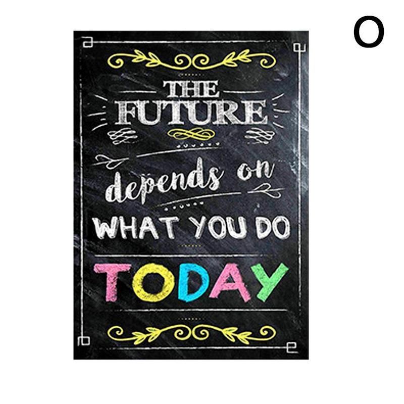 Вдохновляющий постер на английском языке, картина, мотивационный плакат, школьная офисная классная комната, для стен, картины для школьников, школьниц - Цвет: O