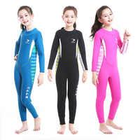 2.5MM kombinezon dla dziewczynek kombinezon do nurkowania gruby zimny odporny na słońce kombinezon jednoczęściowy zestaw dla dzieci Surfing snorkeling stroje kąpielowe