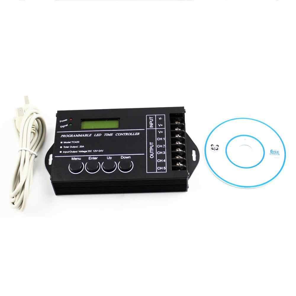 Wif 時間プログラマブル rgb led コントローラ TC421 TC420 DC12V/24 v 5 チャンネル合計出力 20A 共通アノードプログラマブル led ストリップ