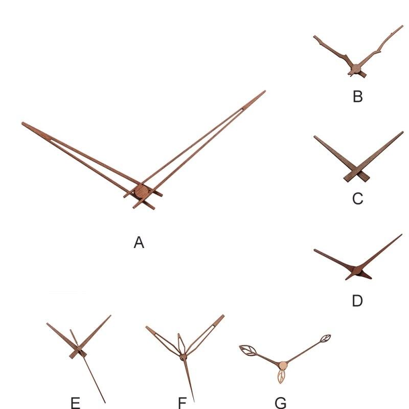 Wooden Pointers DIY Creative Wall Clock Hands Clock Walnut Wood Needle Quartz Clock Replace Part Accessories