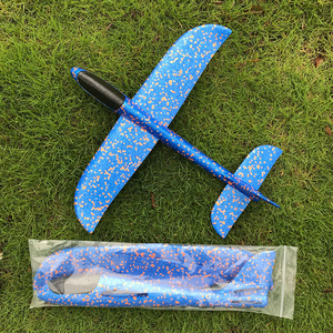 Image 5 - 48*48cm Hand Throw DIY Flying Glider Planes Toys for Children Party Gift Foam Aeroplane Model Toys Flying Gliders Plane Toy Game