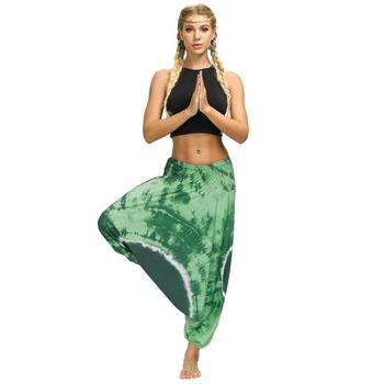 Ladies Boho Harem Pants Green