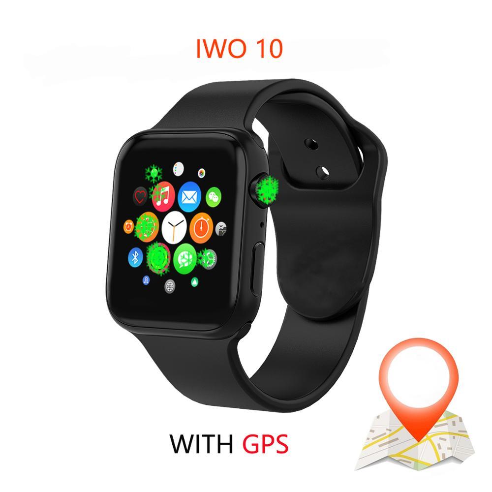 IWO 10 1:1 Série Brinde 4 GPS Inteligente Pulseira Inteligente Relógio Bluetooth SmartWatch para Android IOS Atualização IWO 9 8 7 5 6