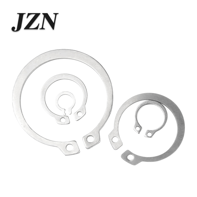 304 Material Stainless Steel C-type Circlip Shaft Card Outer Card Shaft With Snap Ring Spring Retaining Ring Snap Ring M3 -32mm