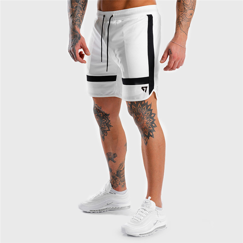 2019 Summer New Fashion Shorts Men's Casual White Shorts Jogger Bodybuilding Sweatpants Health Fitness Men's Clothing