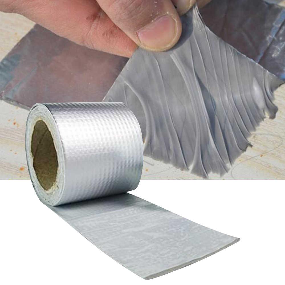 para fugas de techo Cinta adhesiva de aluminio de goma de butilo superimpermeable rotura de tuber/ías hueco de alf/éizar de ventana grieta de superficie