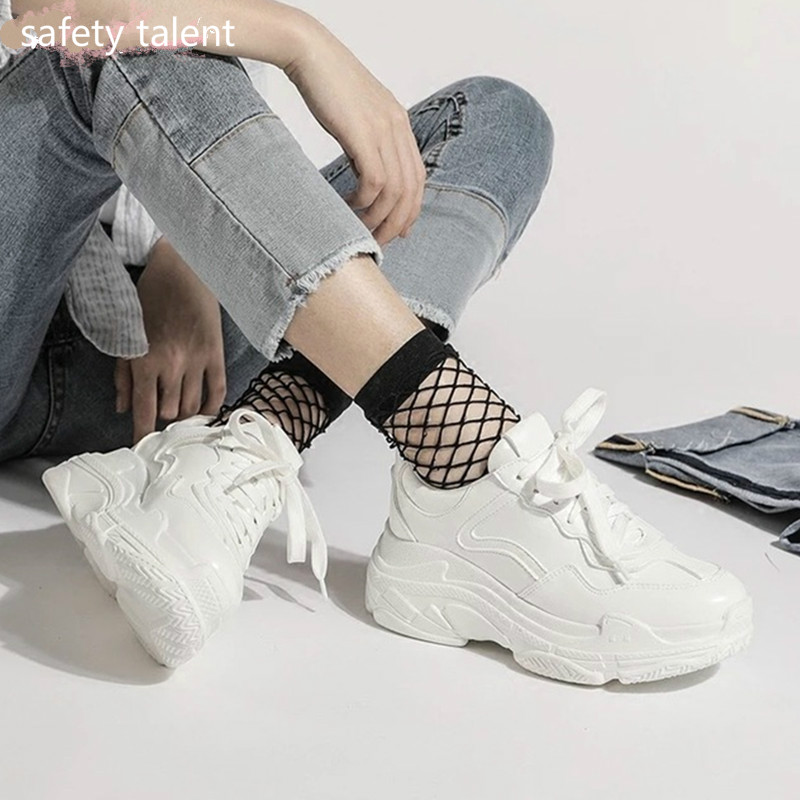 Summer White Mesh Women Sneakers Fashion Thick Bottom 2019 New Women Platform Sneakers Casual Shoes Zapatos De Mujer