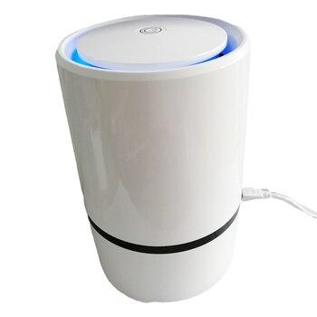 Negative Ion Air Purifier USB Air Ionizer Desktop Portable True HEPA Air Cleaner Remove Cigarette Smoke,Dust,Pollen,Bad Odors цена 2017