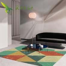 Декоративные ковры для гостиной современный геометрический простой