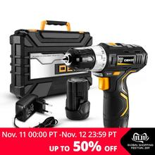 DEKO Power-Driver Battery Cordless-Drill 2-Speed Mini DC Wireless Lithium-Ion Max 12V