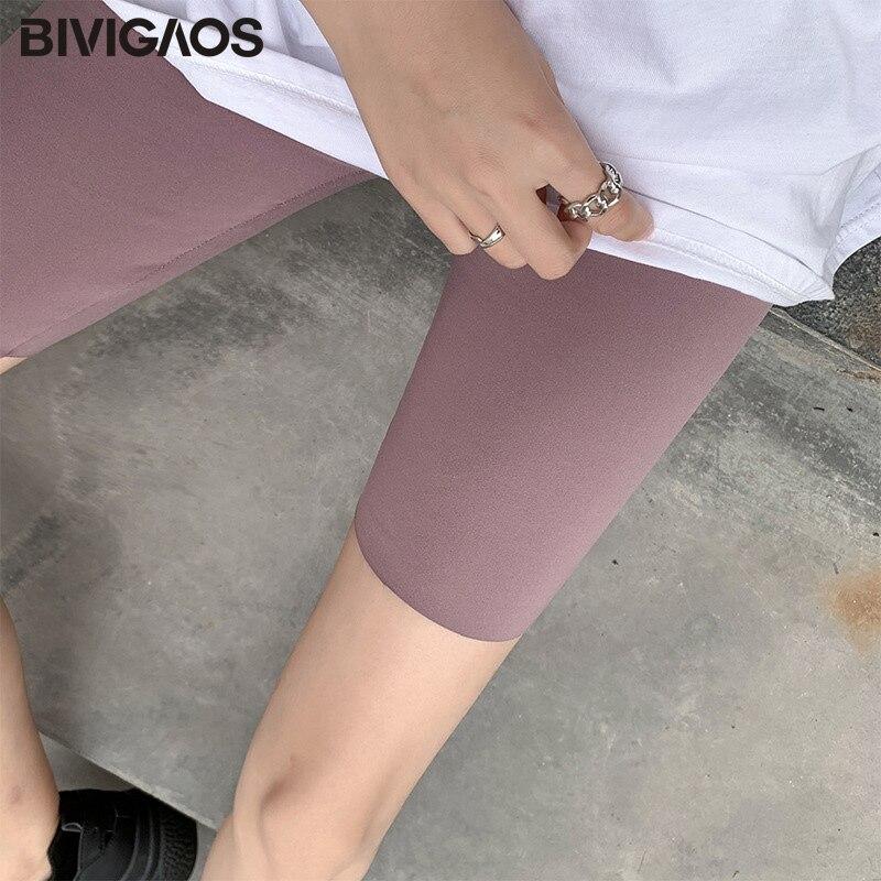BIVIGAOS New 3-Color Sharkskin Leggings Women Spring Summer Thin Skinny Legs Fitness Leggings Pressure Elastic Sport Leggings 11