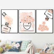 Fashion Perfume Flower Quotes Wall Art Canvas Painting Nordic Posters And Prints Wall Pictures For Living Room Girl Salon Decor fashion perfume flower quotes wall art canvas painting nordic posters and prints wall pictures for living room girl salon decor