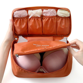 Women's Storage Bag Travel Necessity Accessories Underwear Clothes Bra Organizer Cosmetic Makeup Pouch Case