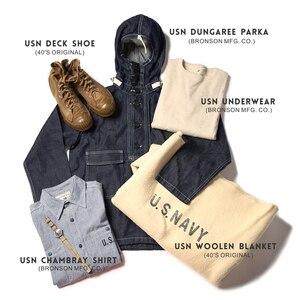 Image 5 - ברונסון WW2 USN Chambray עבודת חולצות גברים של בציר Selvage כהה עייפות שירות