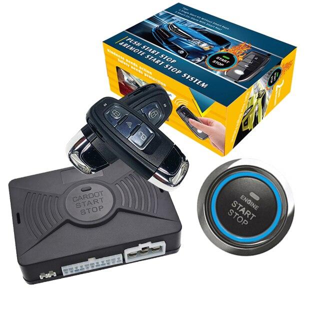 Cardot Pke Passive Keyless Entry System Remote Start Push Start Stop Button Auto Remote Car Alarm