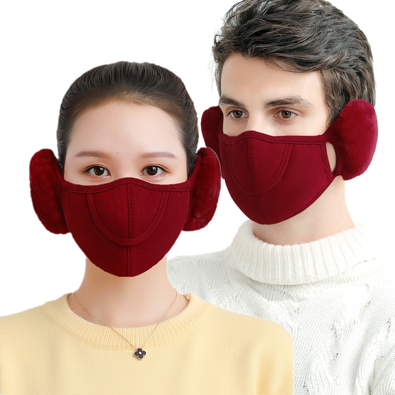 2019 New Winter Mouth Mask Mens Warm Anti Dust Pollution Mask Ear Protector Reusable Face Mask Fabric Respirator Dust