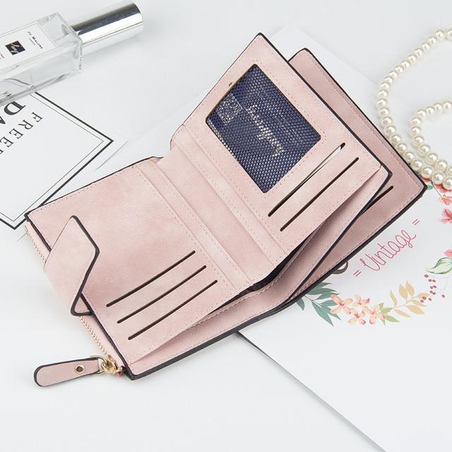 Women's Zipper Wallet Whit Buckle
