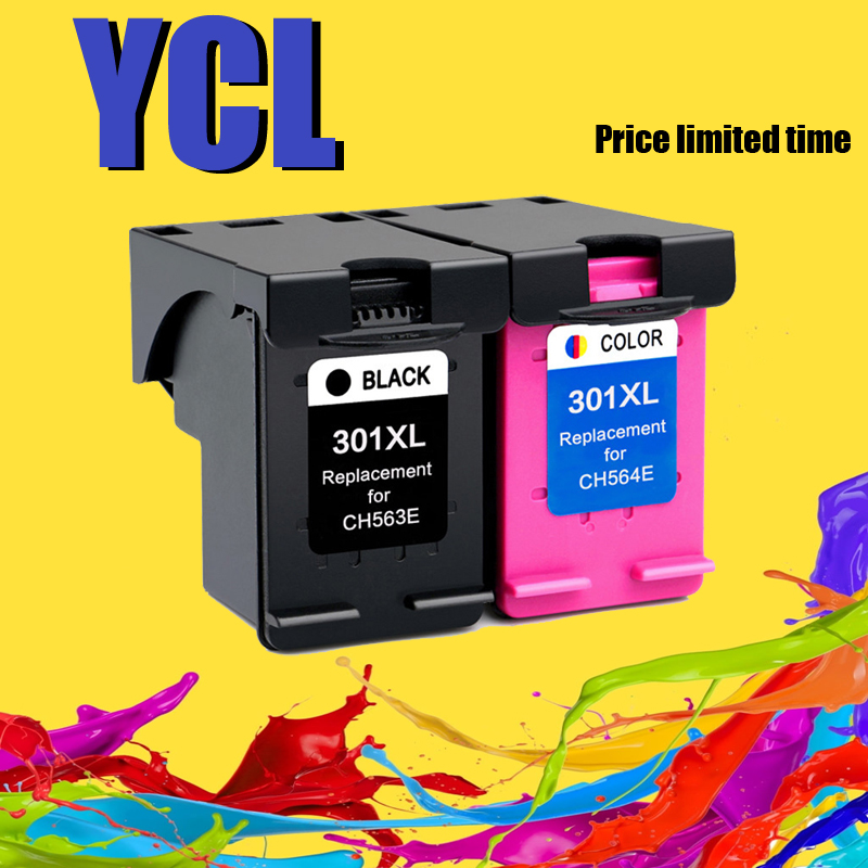 YLC 301XL Replacement For HP 301 301 XL Ink Cartridge For HP Deskjet 2540 1010 1510 2510 2050 1050 3000 4500 Officejet 4630 4634