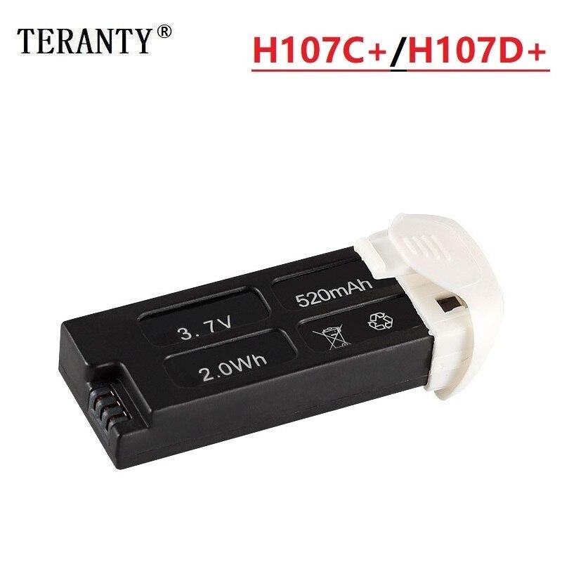 Original pour Hubsan X4 Cam Plus H107D + H107D-H107C + H107C-3.7 V 520mAh batterie Lipo pour chargeur de batterie externe USB Hubsan