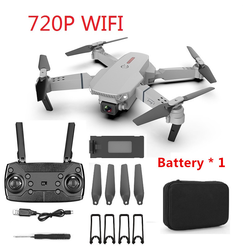 E88 RC Drone 4K HD Dual Camera Foldable Profesional Quadcopter WIFI FPV 2020 New Kids Toys Gift Hight Set Aircraft Helicopter
