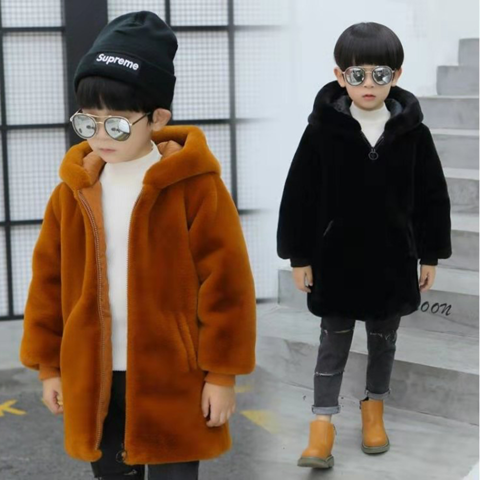 2019 Winter Parkas Kids Autumn Thick Coats Baby Boys Clothes Children Hooded Outerwear Age For Boys 3 4 <font><b>5</b></font> 6 7 8 9 10 11 12 Year image