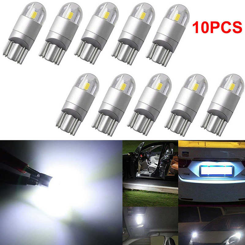T10 LED Bulbs White 168 501 W5W LED Lamp T10 Wedge 3030 2SMD Interior Lights 12V 7000K Red Amber yellow Ice Blue