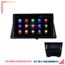10.1 link android carro estéreo rádio android 9.1 hd 2g + 32g espelho link para honda accord 08-12