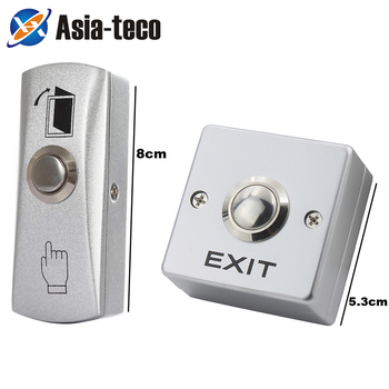 Zinc Alloy GATE DOOR Exit Button Exit Switch For Door Access Control System Door Push Exit Door Release Button Switch