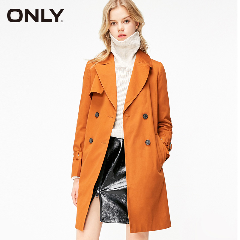 ONLY Women's Spring & Summer Double-breasted Mid-length Trench Coat|119136508