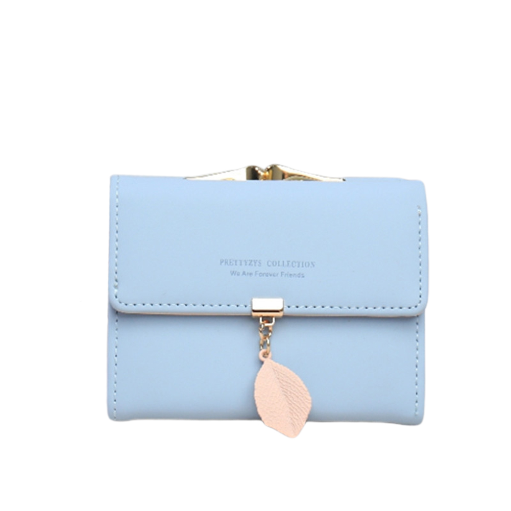 NEW Women's Short Wallet PU Leather Fashion Leaf Tassel Clutch Portable ID Credit Card Holder Purse
