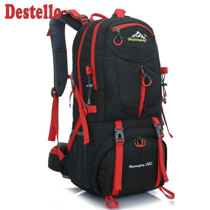 Hiking Backpack 50L Rucksacks Waterproof Backpack Men Outdoor Camping Backpack Gym Bags Travel Bag Women Large Sport Bags
