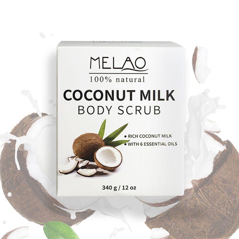 Кокос молоко эфирные масла масло тело лицо скраб отшелушивающий черные точки море соль натуральный отбеливающий крем
