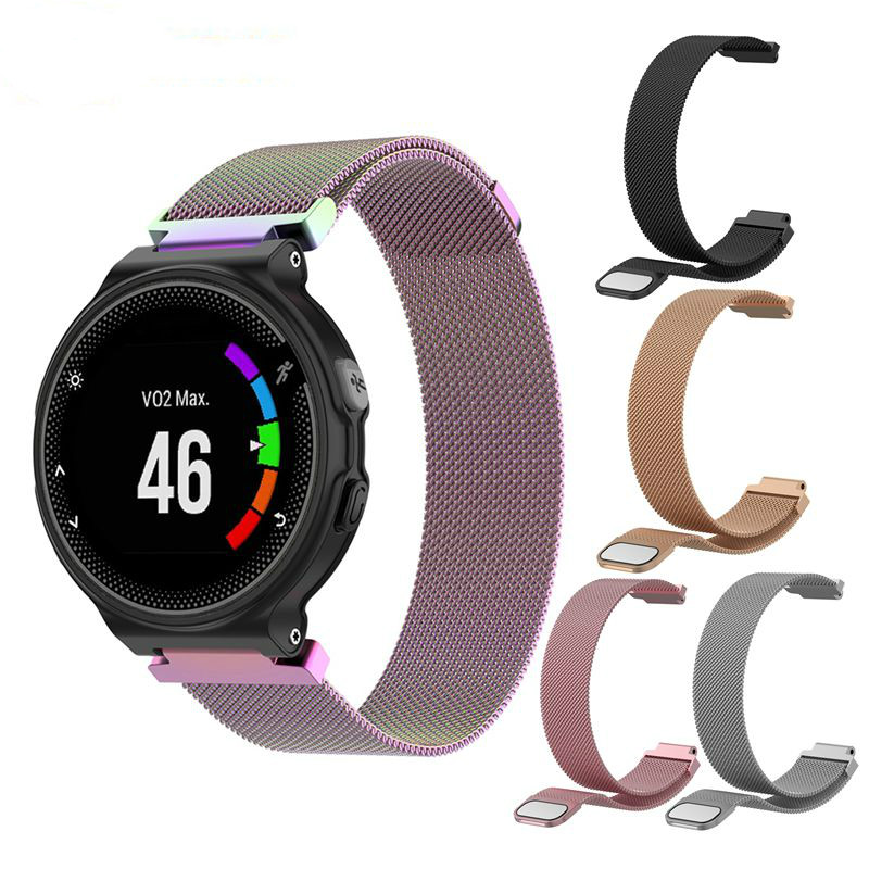 Metal Watch Band Magnetic Strap For Garmin Forerunner 220 230 235 630 620 735 Accessories Smart Bracelet Milanese Loop