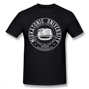 Arkham Horror T Shirt Miskatonic University Book Club T-Shirt Men Short Sleeve 100% Cotton Tee Shirt Oversized Streetwear Tshirt(China)