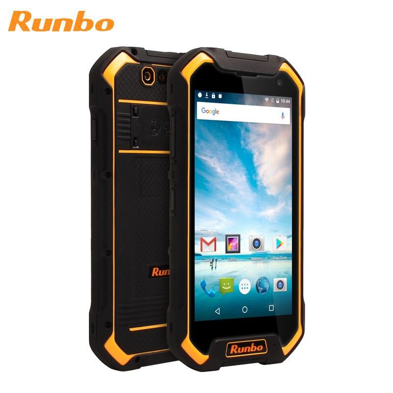 Купить RUNBO F1 Plus прочный IP67 водонепроницаемый трехъядерный смартфон 4 Гб 64 Гб Восьмиядерный 5000 мАч 5,5 дюймов POC NFC Android 7,0 Dual SIM телефон на Алиэкспресс